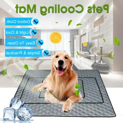Pet Cooling Ice Mats Blanket Dogs Cats Sofa Portable Tour Ca