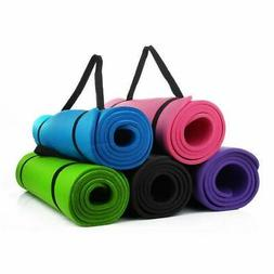 Portable Non-slip Yoga Mat 8MM Thick Fitness Exercise Pad Gy