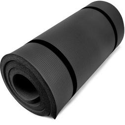 "Ultra Thick 1"" Yoga Cloud Mat High Density Foam - Select Col"