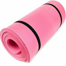 """Yoga Cloud Ultra-Thick 1"""" Yoga and Exercise Mat with Shoulde"""
