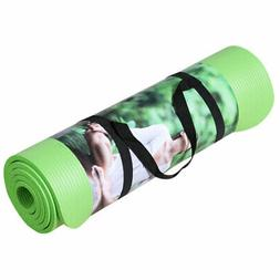 Yoga Mat 10mm Thick Non-Slip Shock Absorbing Pad Workout NBR