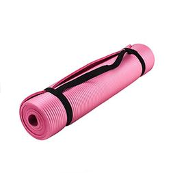 Crown Sporting Goods 3/8-inch  Professional Yoga Mat with No